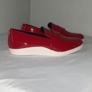 Calvin Klein Shiny Red Loafers